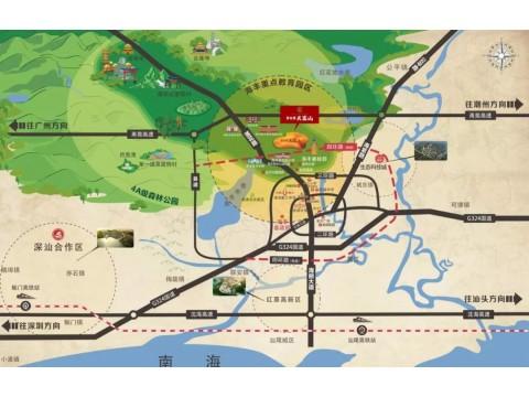 海丰碧桂园天銮山交通图
