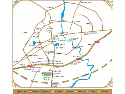 海丰丽景城交通图